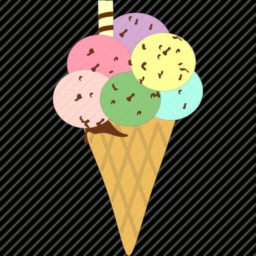cone, ice cream, icecream, sweet icon
