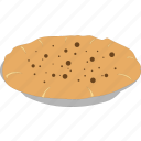 baked, bread muffin, chocolate pie, creamy dessert icon