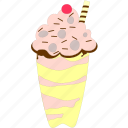 cream, creamy, creamy dessert, pudding icon