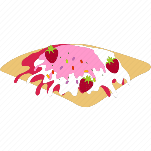 breakfast, pancakes, strawbery, syrup icon