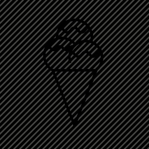 Cone, cream, dessert, icecream, summer icon - Download on Iconfinder