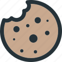 bakery, bread, cookie, dessert, snack, sweet icon