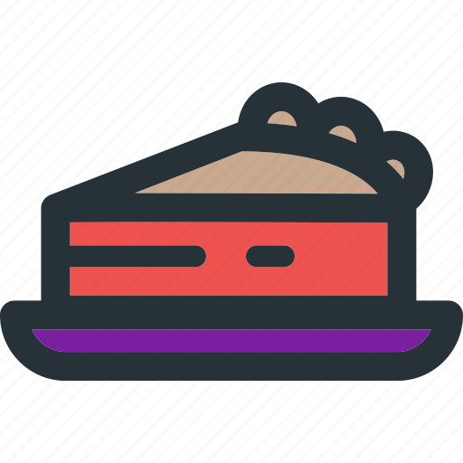 cake, cream, dessert, food, fruit, pie, piece icon
