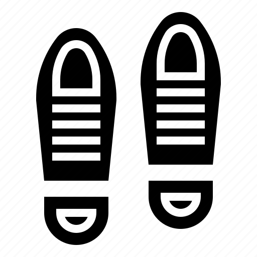 evidence, footprint, mark, shoe, trace icon