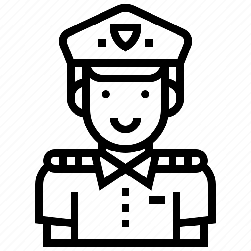 career, international, occupation, officer, police icon