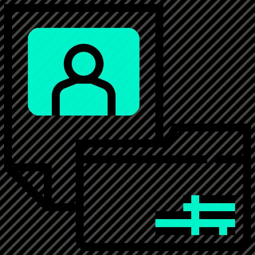 confidential, folder, profile, resume, secret icon