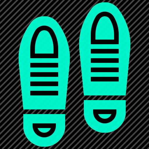 evidence, footprint, mark, shoe, trace icon
