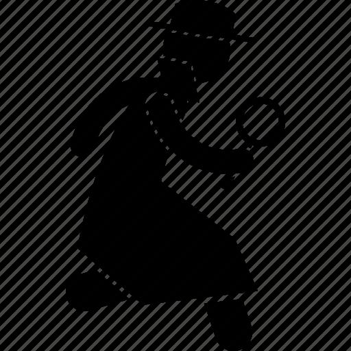 Detective Investigate Investigator Running Icon Icon