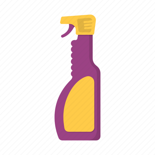 bottle, cleaner, cleaning, detergent, spray icon