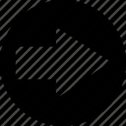 arrow, forward, go, next, redo, right icon