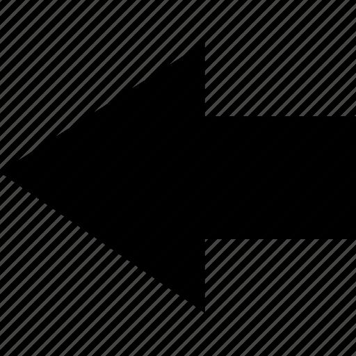 align, arrow, back, left, move icon