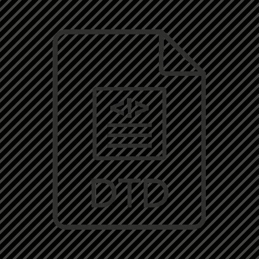 document type definition, document type definition file, dtd, dtd file, dtd file icon, dtd icon icon