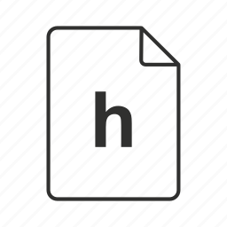 .h, .h file, .h icon, c/c++/objective-c header, c/c++/objective-c header file, h, h file icon