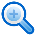 in, zoom icon