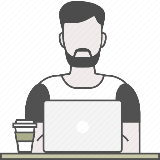 backend, coding, developer, frontend, male, programmer, qa icon