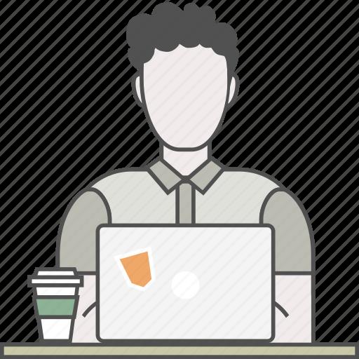Developer, backend, coding, frontend, male, programmer, qa icon - Download on Iconfinder