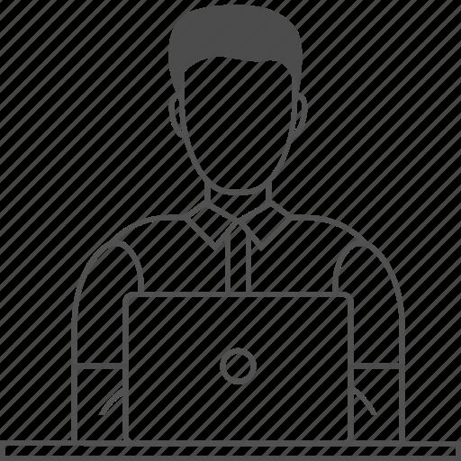 Developer, backend, frontend, male, programmer, coding, qa icon - Download on Iconfinder
