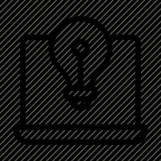 Blub, idea, laptop, system icon - Download on Iconfinder