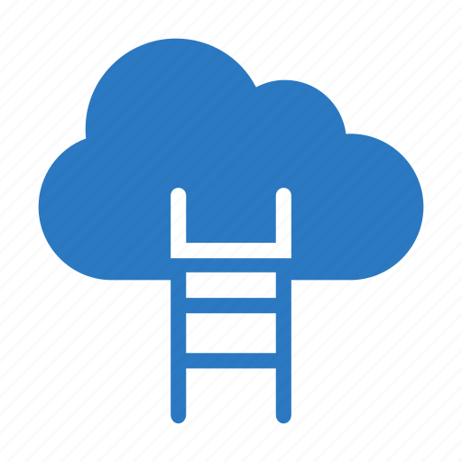 career, cloud, development, ladder, success icon