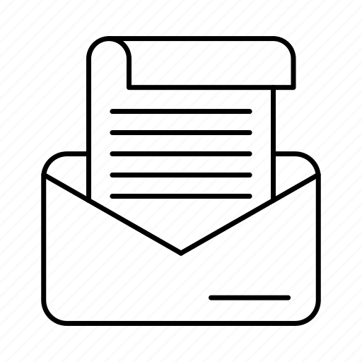 correspondence, email, envelope, mail icon