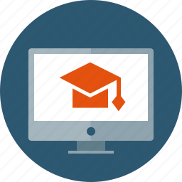 distance, education, elearning, learning, online, seminar, training icon