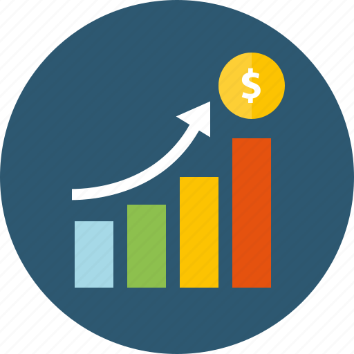 benefit, budget, chart, costs, diagram, dividends, earnings, expenses, growth, loyalty, money, profit, sales, stability, trend, up icon