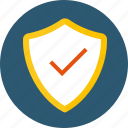 access, authorization, encrypted, guarantee, insurance, permission, protected, safe, secure, secured, shield, verified icon