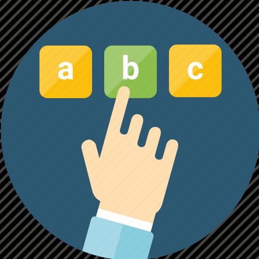 alternative, answer, automation, exam, feedback, form, take test, test, testing, variation, vote, voting icon
