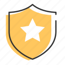 award, badge, crest, honor, medal, shield icon
