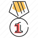 award, badge, honor, medal, prize, victory icon