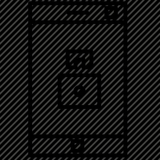 device, lock device, locked, phone, smartphone icon