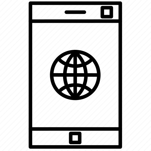 connection, internet, mobile, phone, smartphone icon