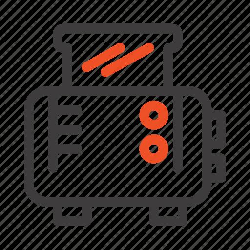 machine, toast, toaster icon