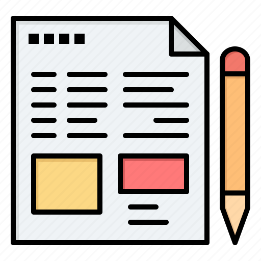 education, file, pencil, text icon