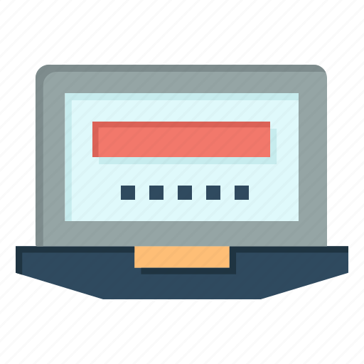 computer, education, hardware, laptop icon