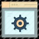 gear, internet, setting, web icon