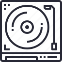 device, dj, equipment, office, player, technology icon
