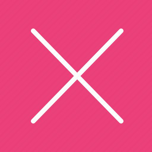 cancel, cancelled, close, cross, delete, remove, trash icon