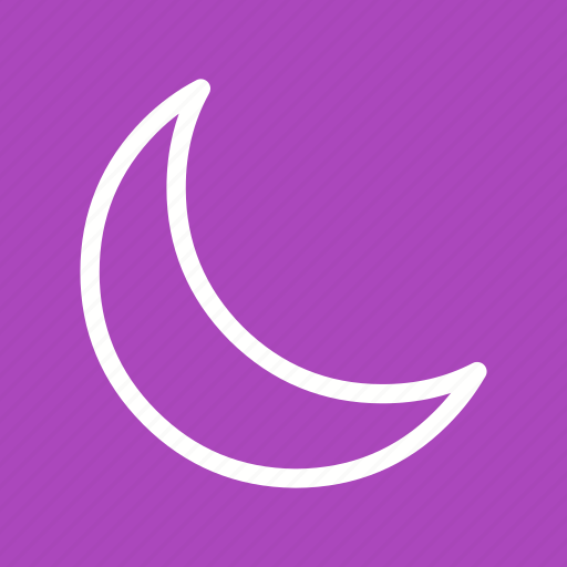 cell, do not disturb, half moon, mobile profile, moon, night, silent icon