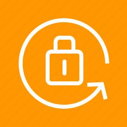 direction, display, portraint orientation, screen, settings, unlocked icon