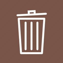 bin, cancel, delete, garbage, recycle bin, remove, trash icon