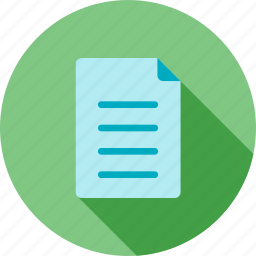 data, document, file, information, notes, report, write icon