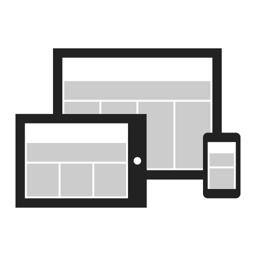 adaptive, browser, design, graphic, responsive, website icon