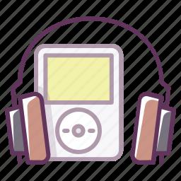 audio, device, headphones, ipod, music, play, sound icon