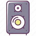 appliance, electronics, music, musical speaker, play, sound, volume icon