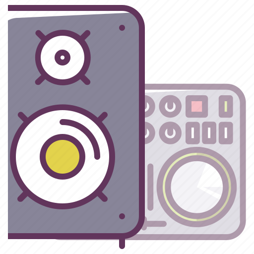 disco, dj, electronics, music, musical speaker, play, volume icon