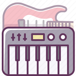 audio, electronics, guitar, music, piano, sound, volume icon