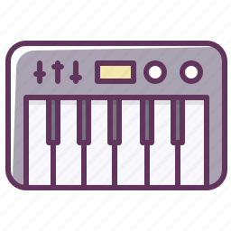 appliance, audio, electronics, music, piano, play, sound icon