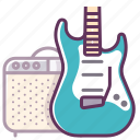amp, audio, device, electronics, guitar, music, sound icon