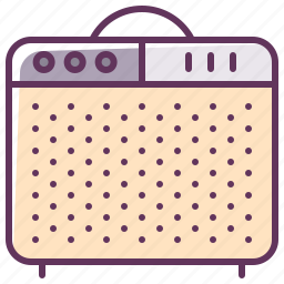 amp, appliance, audio, device, electronics, music, sound icon